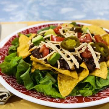 Layered Vegan Taco Salad