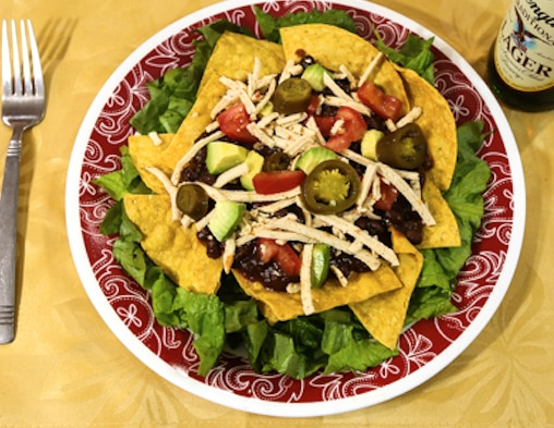 Layered Chili Taco Salad