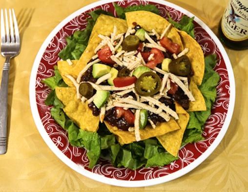 Layered Chili Taco Salad