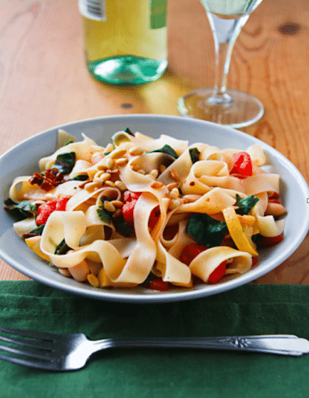 Pappardelle with chard recipe