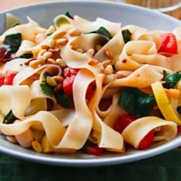 Pappardelle with chard