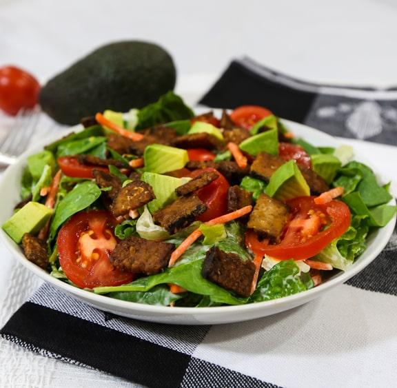 vegan BLT tempeh salad