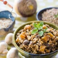 Instant Pot lentils and rice