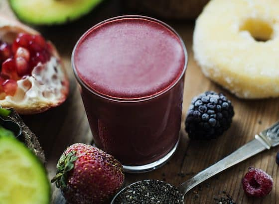 Pomegranate, Berry & Avocado Smoothie