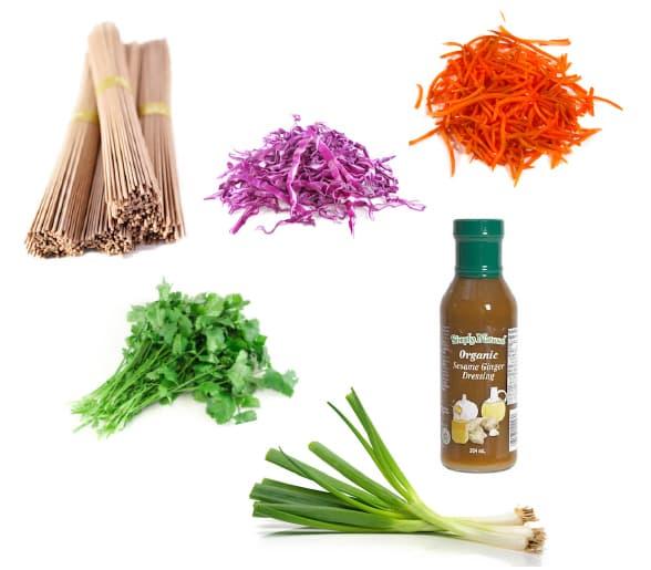 Sesame soba noodles ingredients