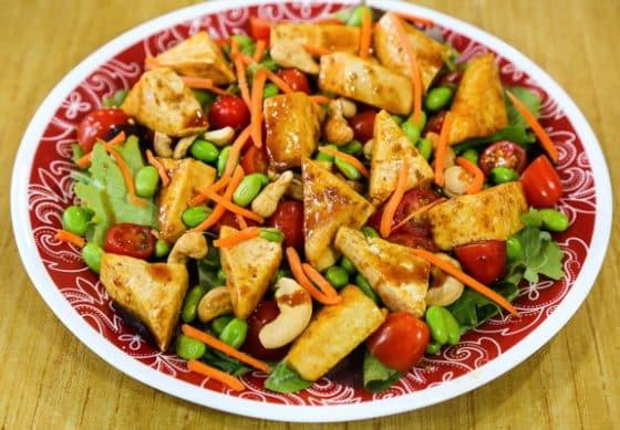 Hot-and-Cool Tofu Teriyaki Salad
