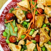 Tofu teriyaki salad recipe
