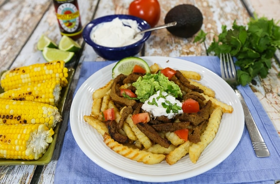 Vegan Carne Asada fries