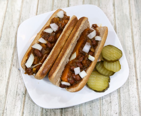 Amy's chili dogs