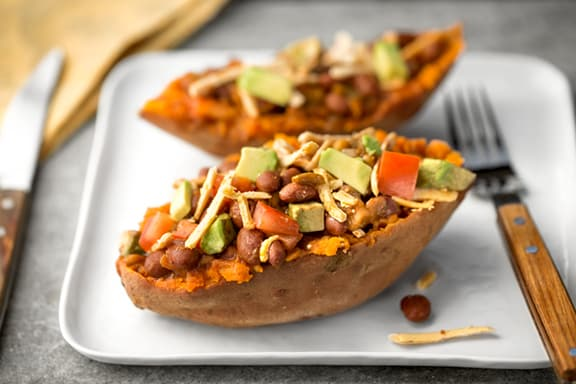Amy's Chili-Stuffed Sweet Potato