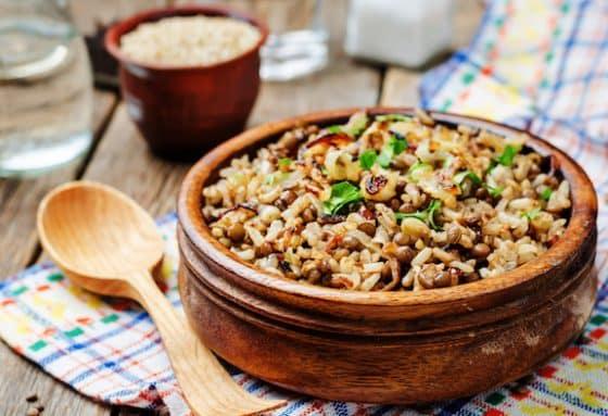 Mujaddarah lentils and rice
