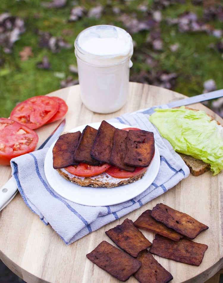 tofu bacon vegan blt