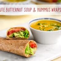 20-minute Butternut soup & hummus