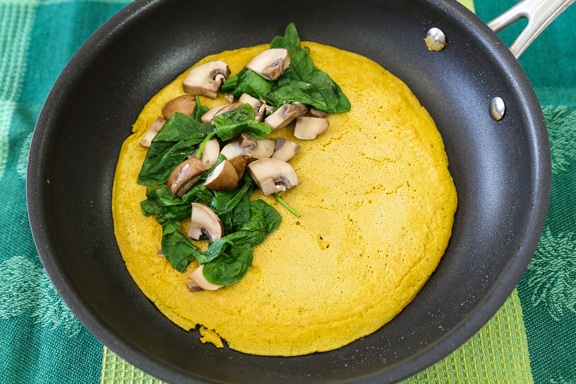 Vegan chickpea flour omelet recipe