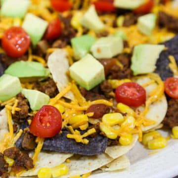 Easy vegan nachos grandes