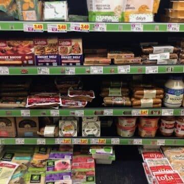 vegan substitutions in supermarket