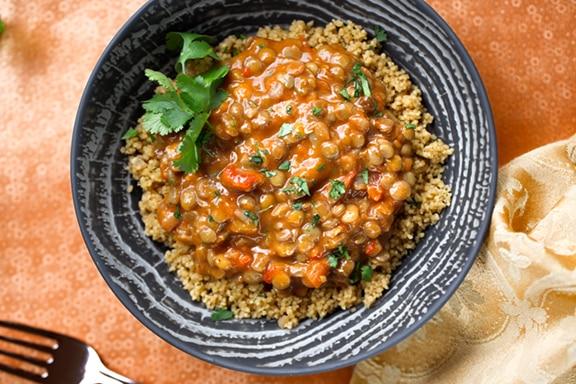 Lentil curry dinner hack