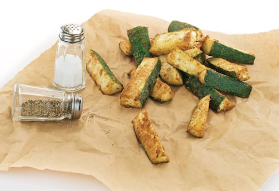 Masala Zucchini Fries by Kathy Hester