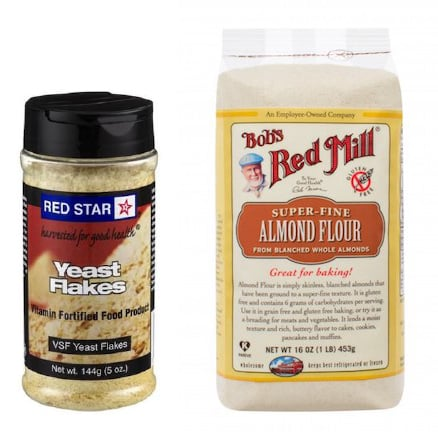 Nutritional yeast and almond flour