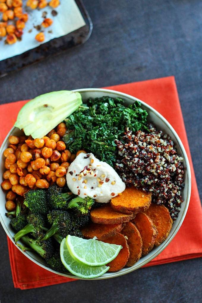 roasted veggie quinoa bowl vegan gluten free