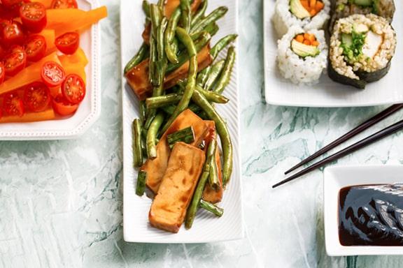 Tofu and green beans teriyaki dinner hack