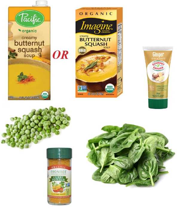 nearly-instant butternut squash soup ingredients