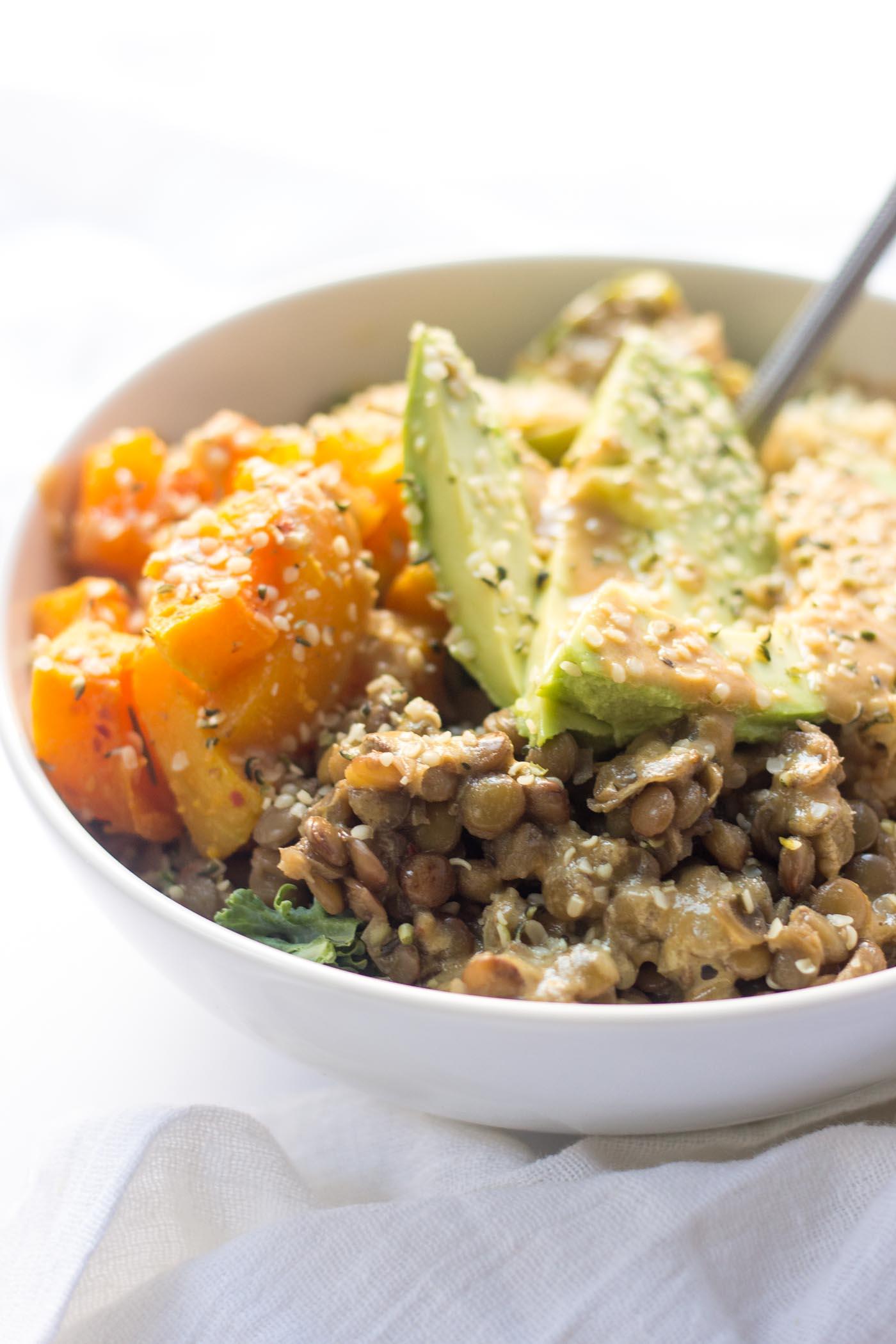 cozy quinoa buddha bowl