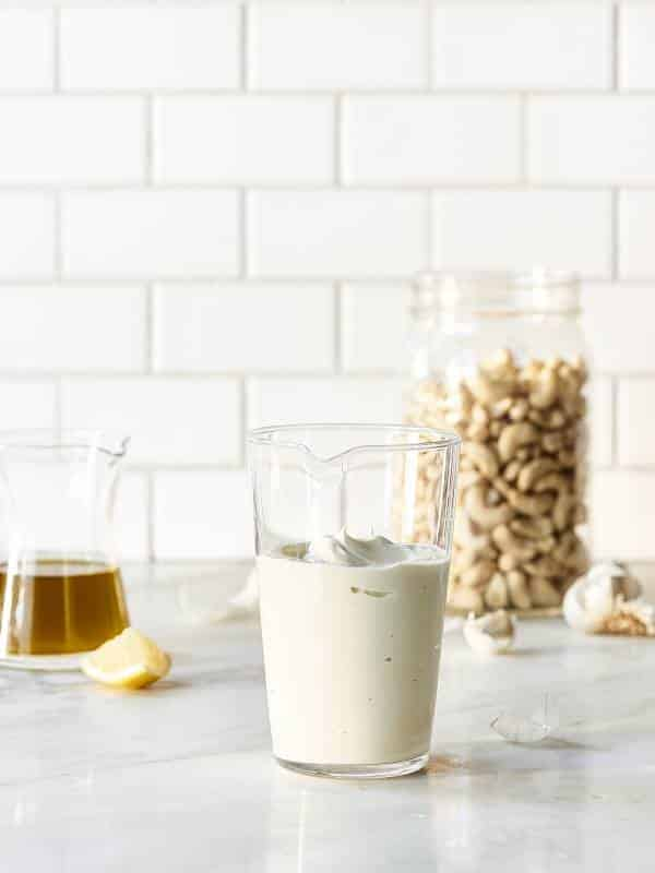 creamy lemon cashew dressing