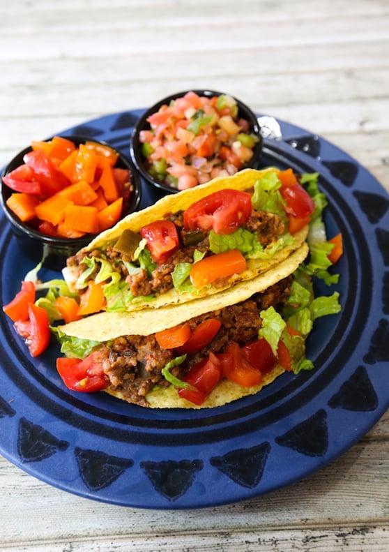Instant vegan taco filling recipe