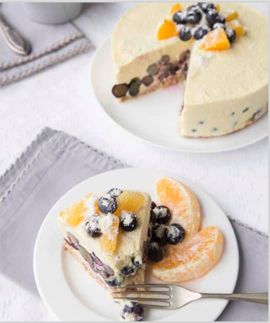 Vegan and Raw orange creamsicle cake