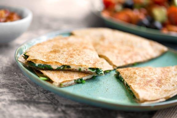 Vegan Spinach quesadillas recipe