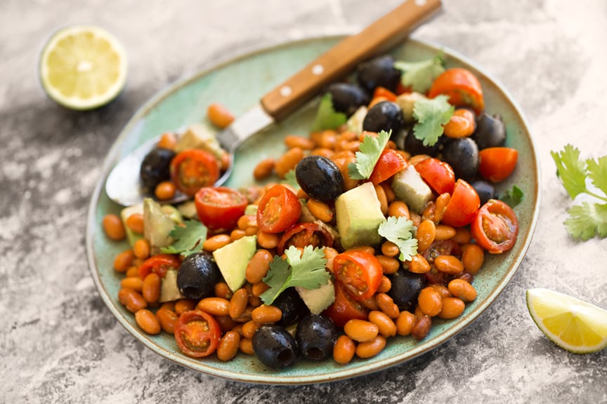 Superfoods for vegetarian pregnancy and lactation bean avocado and olive salad forumfinder Image collections