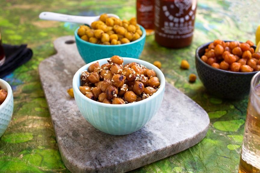 Sesame-ginger skillet chickpeas