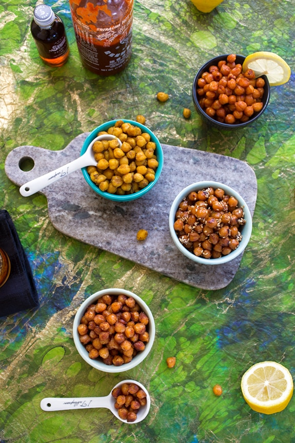 Skillet-roasted chickpeas varieties