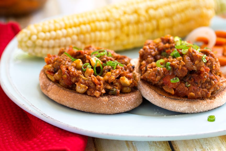 Easy vegan Sloppy Joes dinner