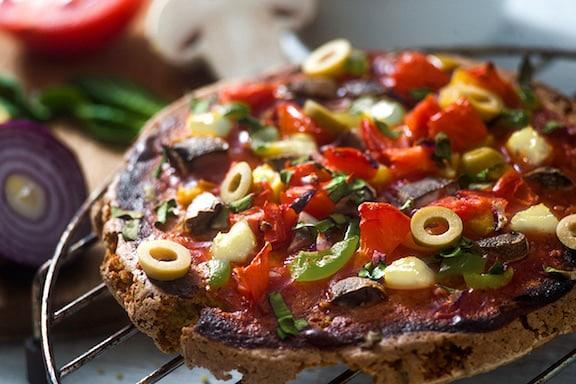 Gluten-free quinoa pizza crust