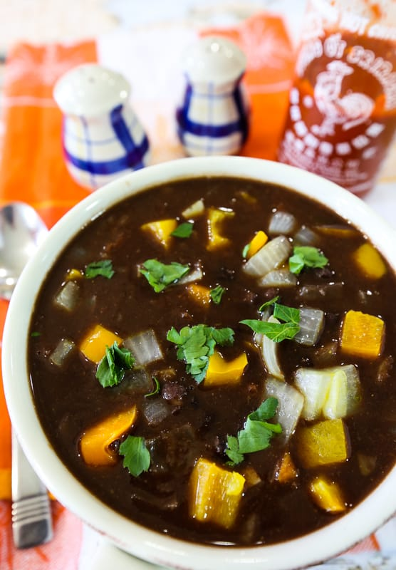 Salsa black bean soup recipe