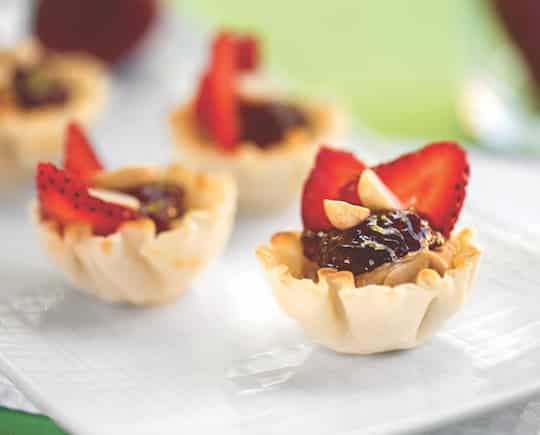 Mini Peanut butter and jam tartlets