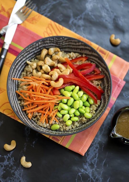 quinoa edamame bowl
