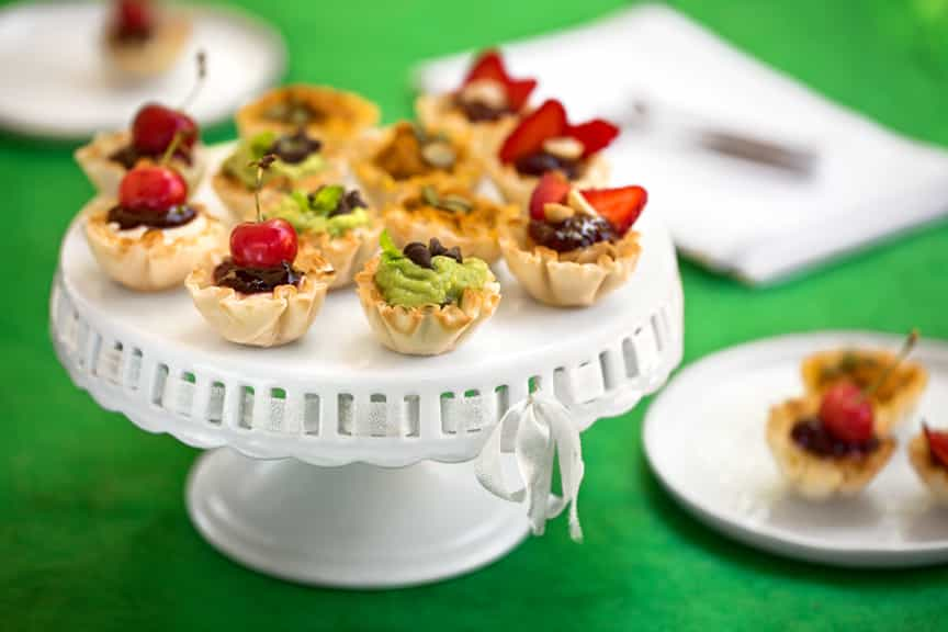 Sweet vegan tartlets