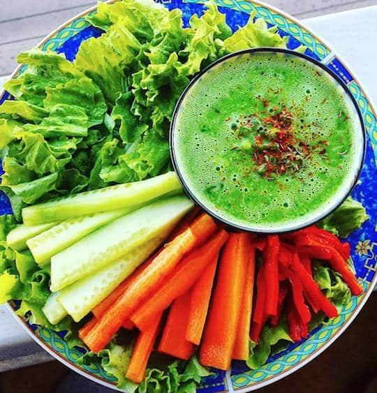 Sweet fresh pea soup
