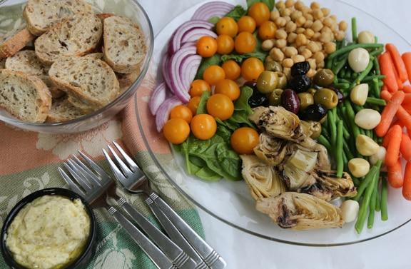 Vegan antipasto platter