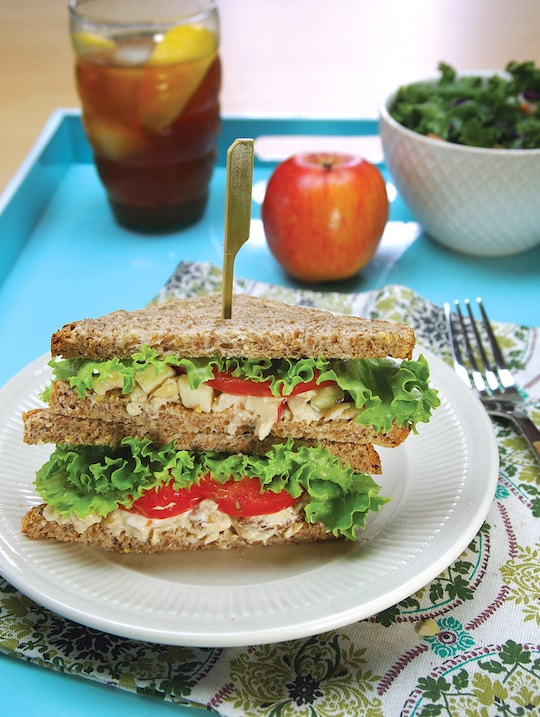 Apple-Pecan Tempeh Salad Sandwich
