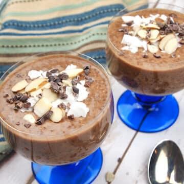 Chocolate almond chia pudding