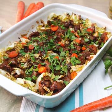 Stout, Seitan, and Cabbage Casserole