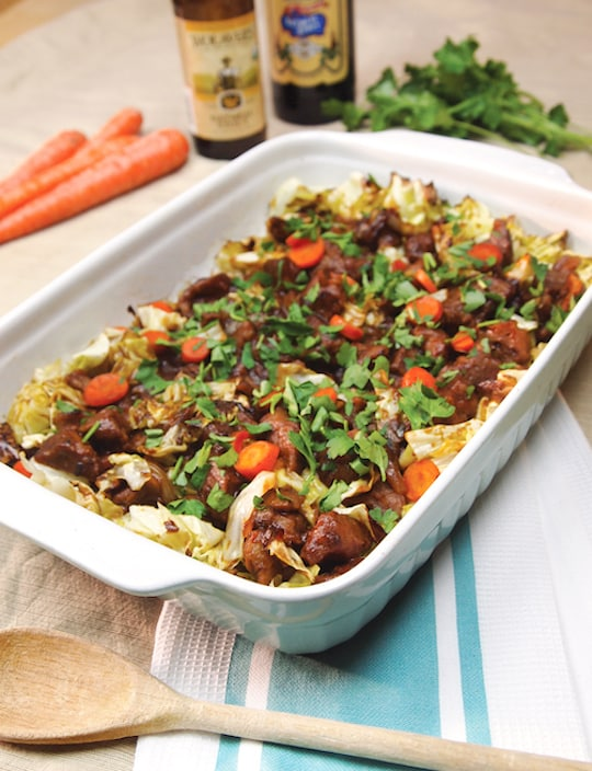 Stout, Seitan, and Cabbage Casserole
