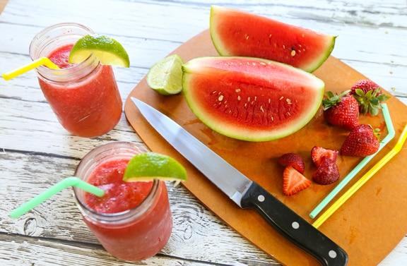 Strawberry-Watermelon Slush
