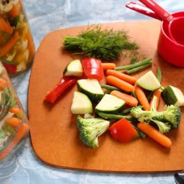 Quick Pickled Vegetables prep