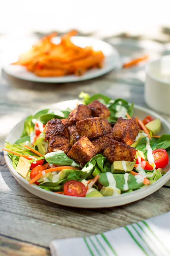 BBQ Tempeh salad dinner plan