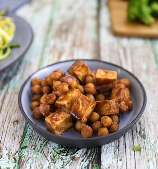 BBQ Tofu & chickpea bowl recipe